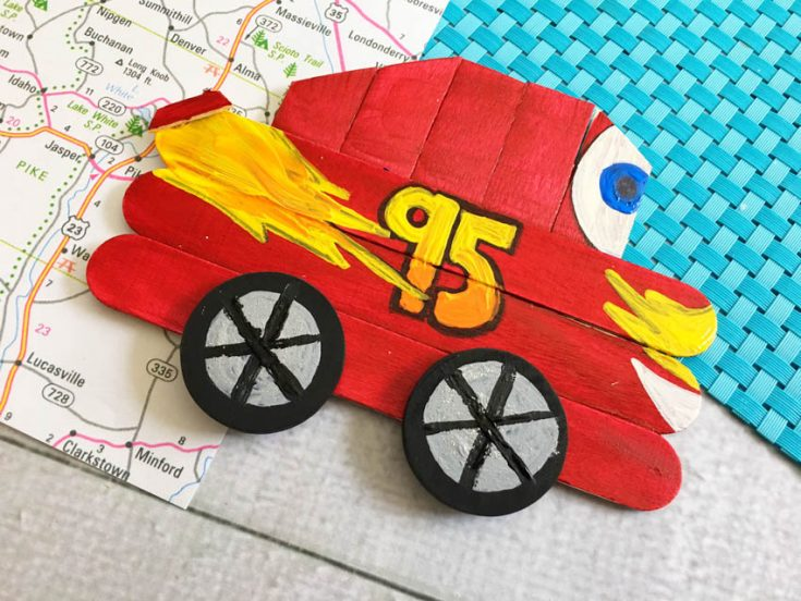 Disney Lightning McQueen Craft for Kids #Disney