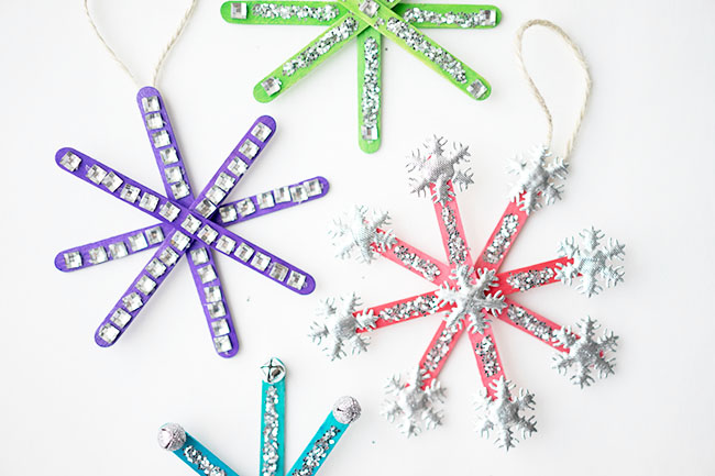 How to Make Popsicle Stick Snowflake Ornaments - An Easy Tutorial!