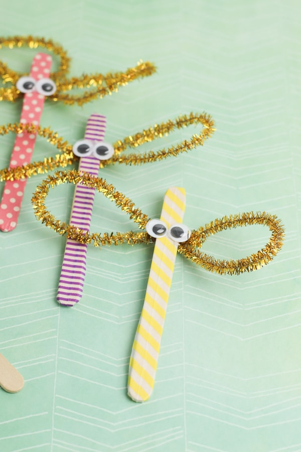 Popsicle Stick Dragonfly Craft