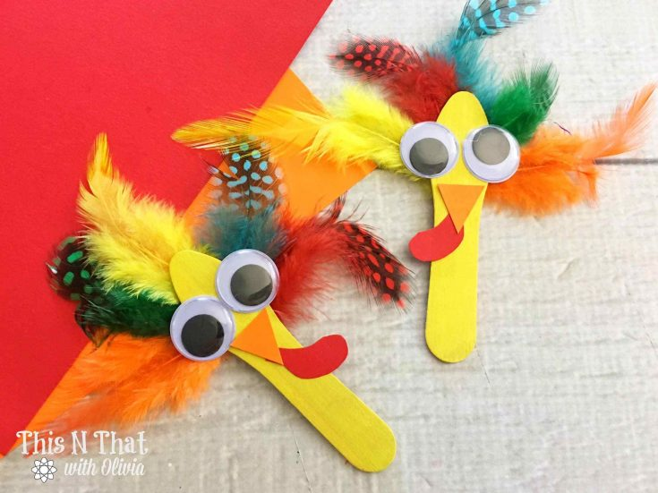 Craft Stick Turkeys