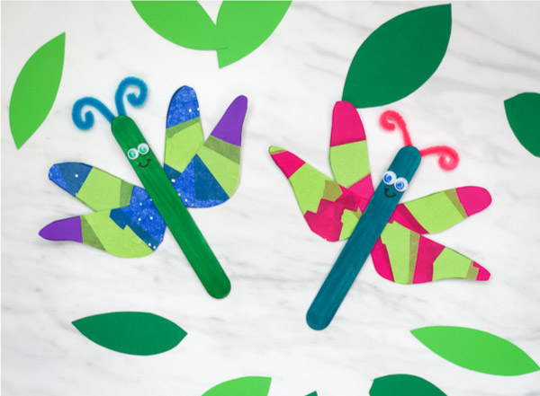 Popsicle Stick Dragonfly Craft For Kids