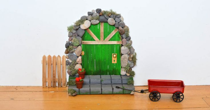 Make a DIY Fairy Door from Craft Sticks & Rocks