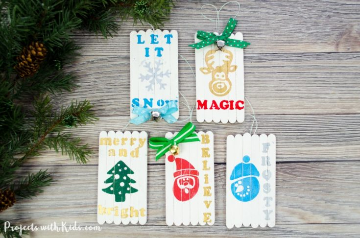 Mini Pallet Popsicle Stick Christmas Ornaments