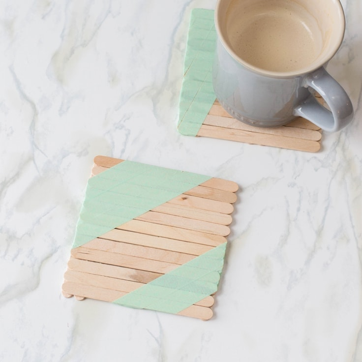 Popsicle Stick Craft: The Cutest DIY Coaster