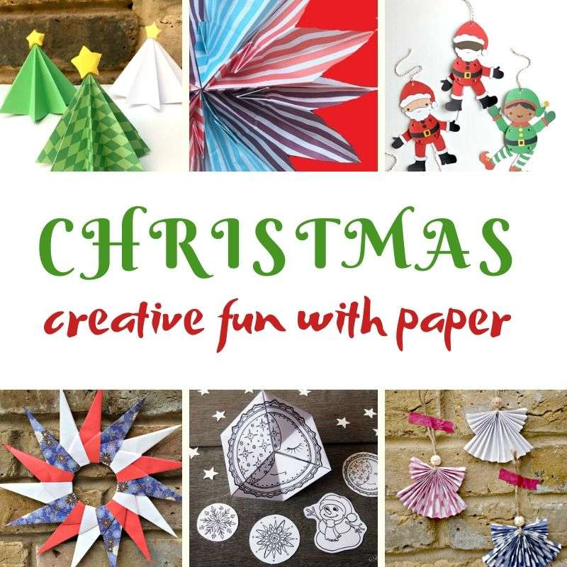christmas crafts for kids using paper