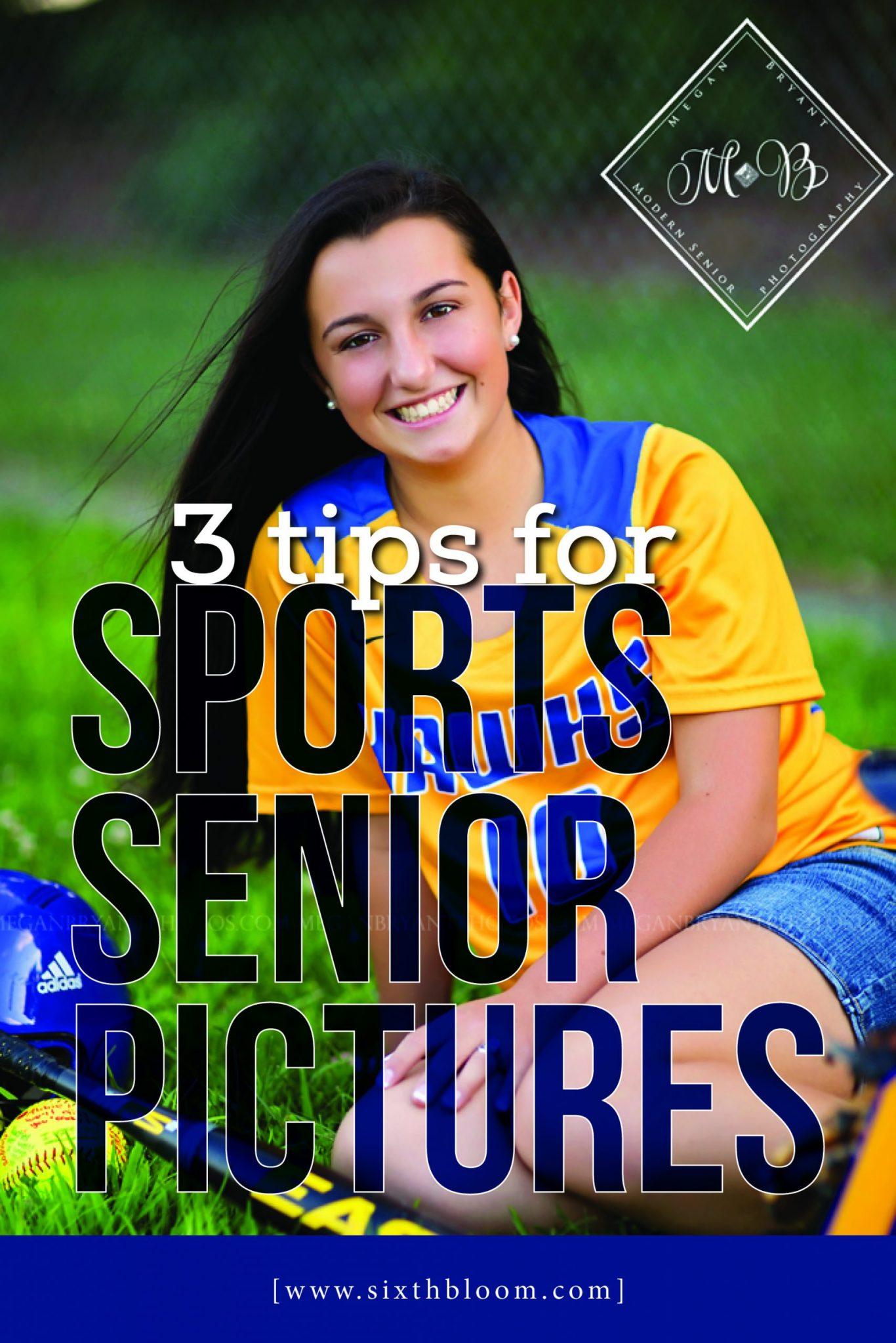 senior girl in sports attire taking high school pictures