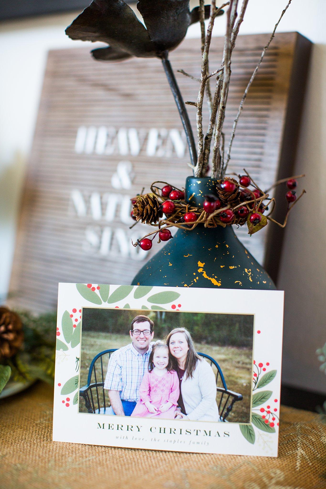 a custom family christmas card