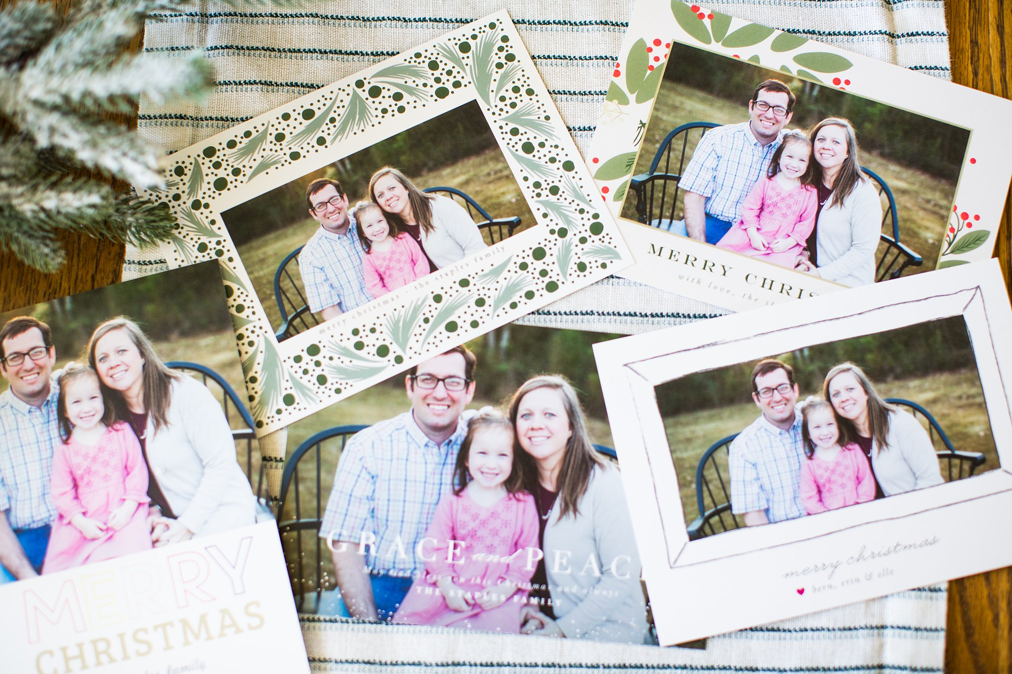 christmas cards of our family