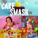 one year olds taking cake smash pictures
