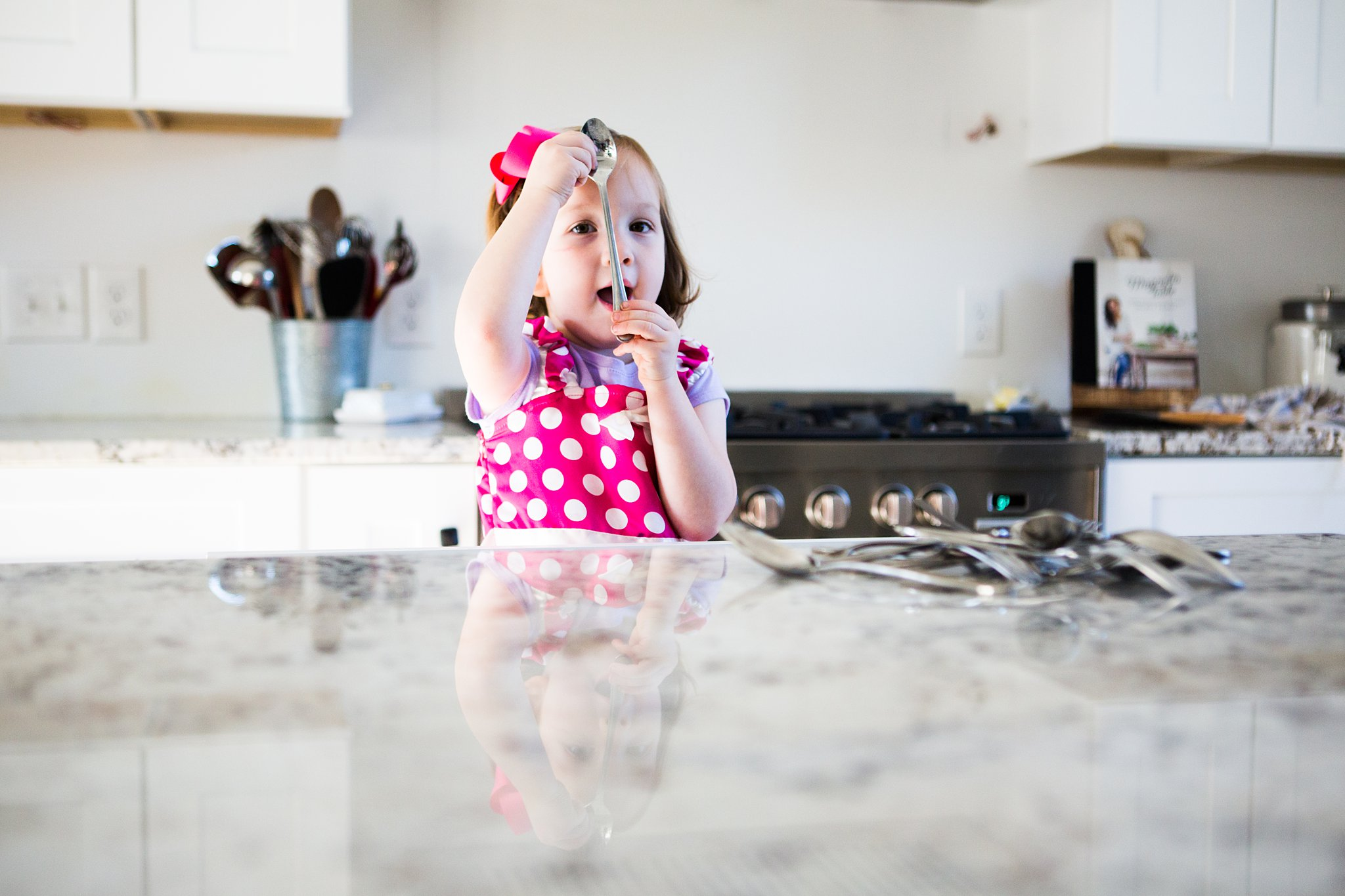 preschooler doing chores