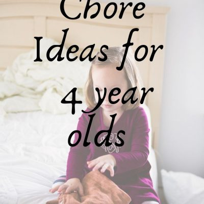 7 Chores Any 4 Year Old Can Do